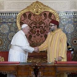 Rencontre entre le Pape François et Mohamed VI a Rabat les 30 et 31 mars 2019