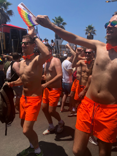 Des hollandais a la Gay Pride Tel Aviv 2019