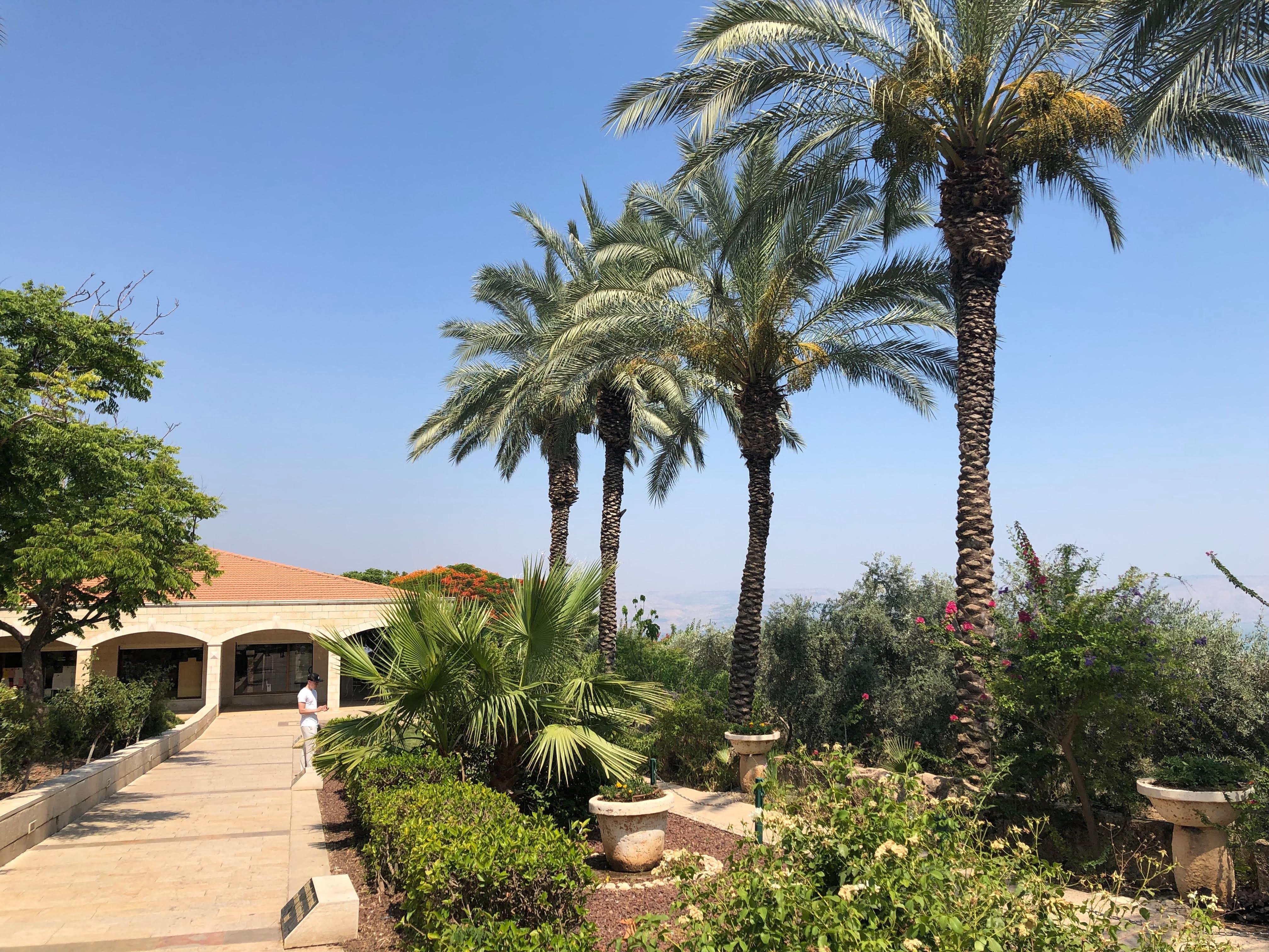 Les jardins du mont des Béatitudes en Galilée