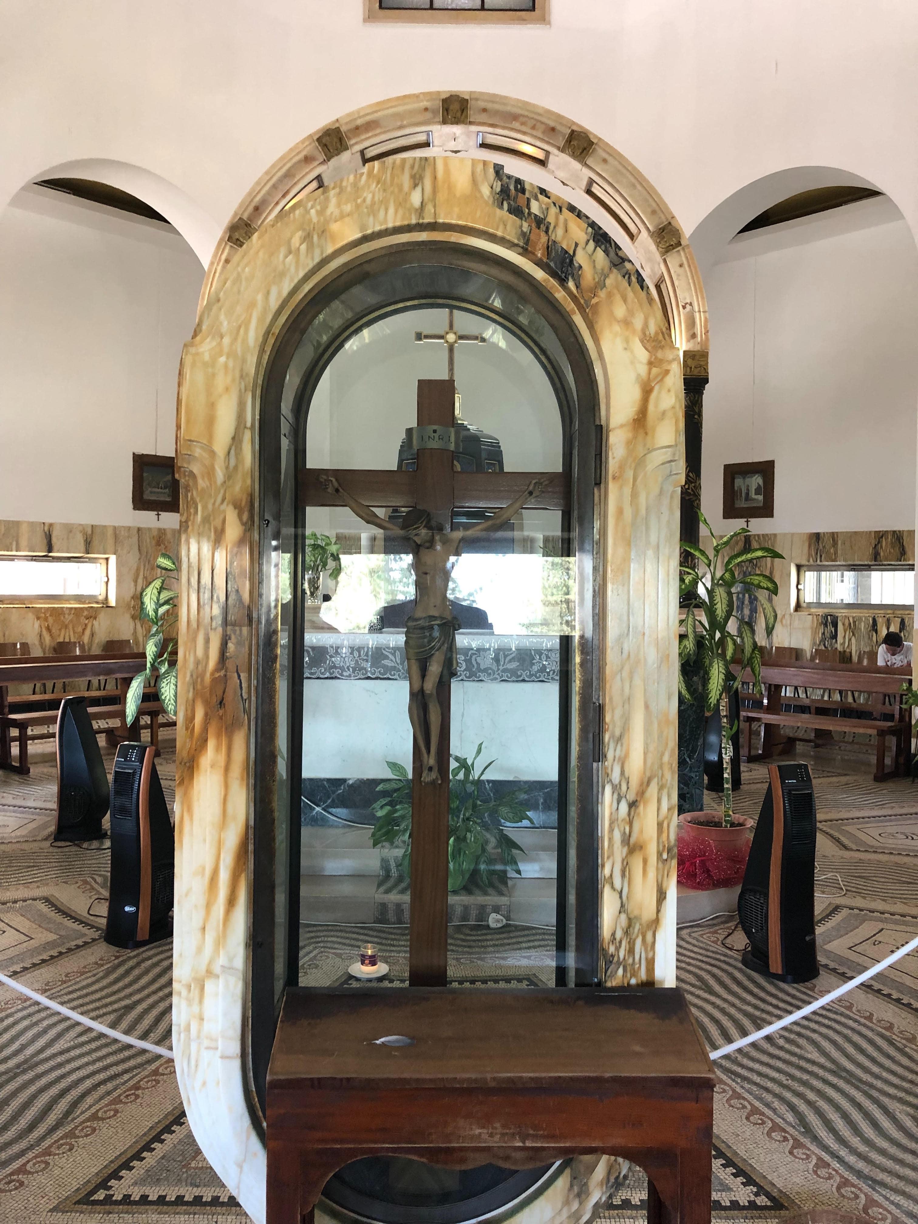 Jésus au mont des Béatitudes en Galilée