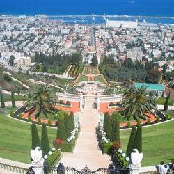 Le centre spirituel Bahai est situé à Haïfa avec vue sur la mer Méditerranée