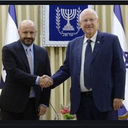 Reuven Rivlin reçoit Abdallah Chatila en Israel