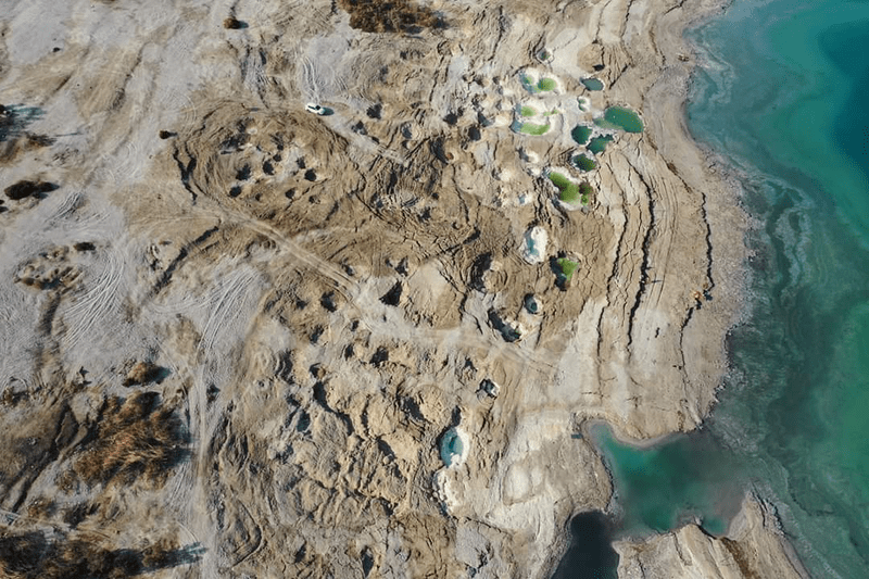 La mer morte vue d'en haut via un drone