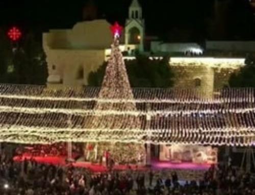 La cérémonie d'illumination du sapin de Noël a eu lieu à Bethléem